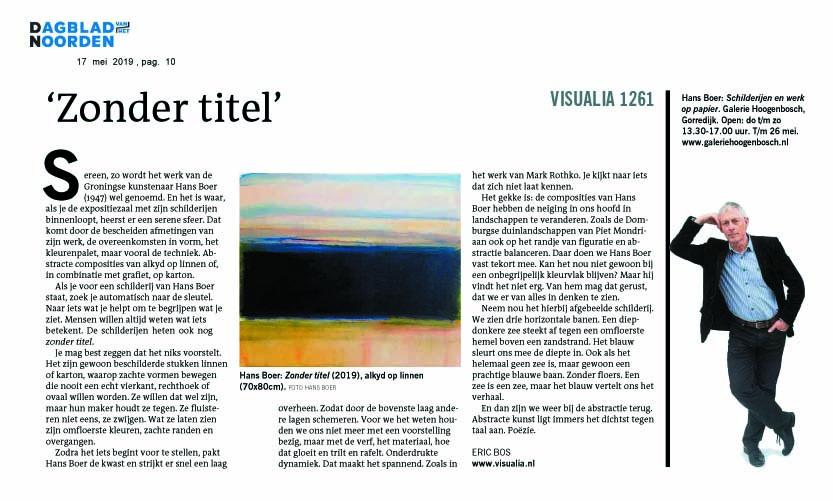 Dagblad v.h. Noorden, mei 2019, Eric Bos, Visualia